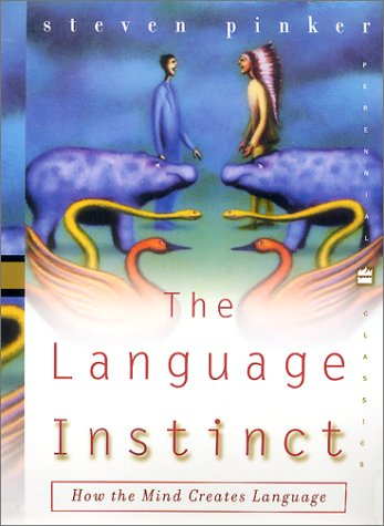 Language Instinct How the Mind Creates Language Reprint  edition cover
