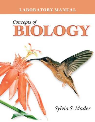 Lab Manual Concepts of Biology  2nd 2011 9780077297336 Front Cover
