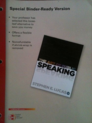 Looseleaf for the Art of Public Speaking  11th 2012 edition cover