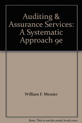 Auditing and Assurance Services: A Systematic Approach 9th edition cover