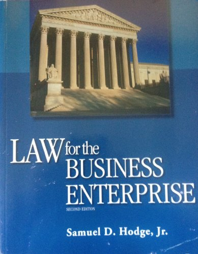 LAW FOR BUSINESS ENTERPRISE >CUSTOM<    N/A edition cover