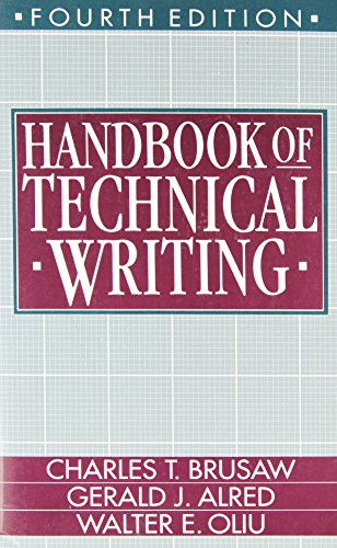 Handbook of Technical Writing  4th 1993 edition cover