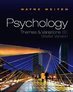 Psychology Themes and Variations 8th 2011 (Brief Edition) edition cover