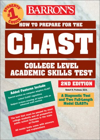 How to Prepare for the CLAST Florida Teachers Test 2nd 2003 9780764120336 Front Cover