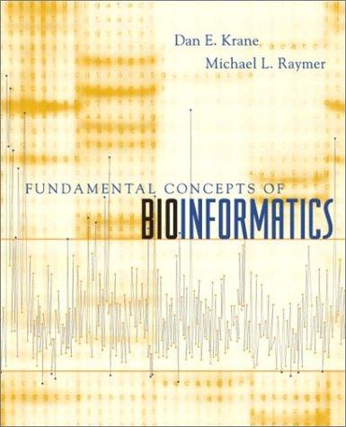 Fundamental Concepts of Bioinformatics   2003 edition cover