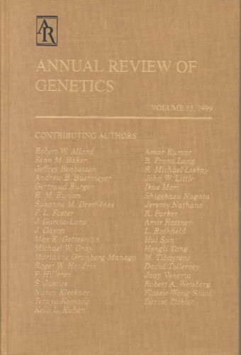 Annual Review of Genetics   1999 edition cover