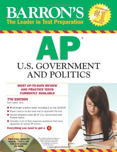 Barron's AP U. S. Government and Politics  7th 2012 (Revised) edition cover