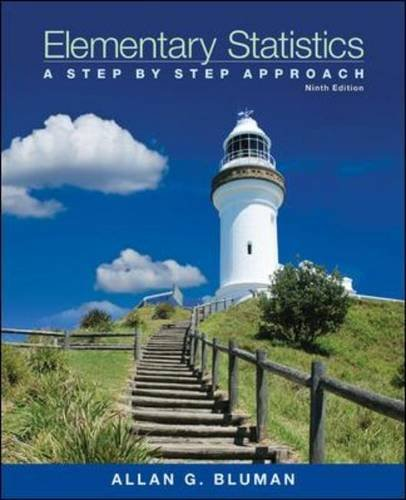 Elementary Statistics A Step by Step Approach 9th 2014 9780078136337 Front Cover