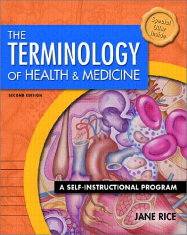 Terminology of Health and Medicine A Self-Instructional Program 2nd 2003 edition cover