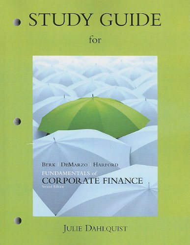 Study Guide for Fundamentals of Corporate Finance  2nd 2012 9780132148337 Front Cover
