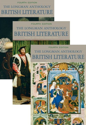 Longman Anthology of British Literature, Volumes 1A, 1B, And 1C  4th 2010 edition cover