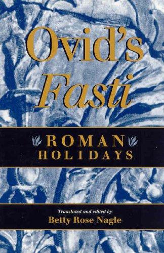 Fasti   1995 9780253209337 Front Cover