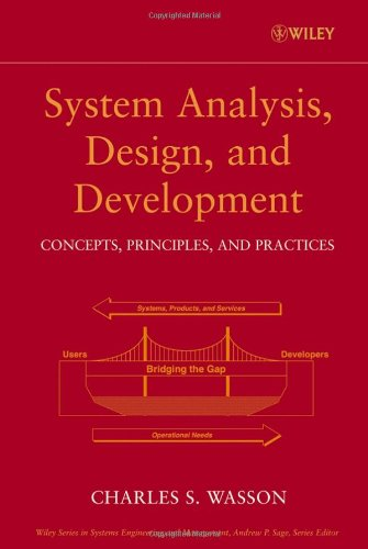 System Analysis, Design, and Development Concepts, Principles, and Practices  2006 edition cover