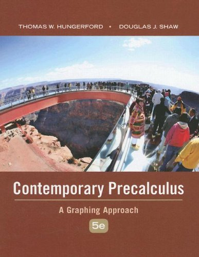 Contemporary Precalculus A Graphing Approach 5th 2009 edition cover