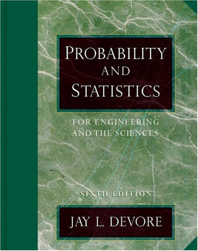 Probability and Statistics for Engineering and Science  6th 2004 edition cover