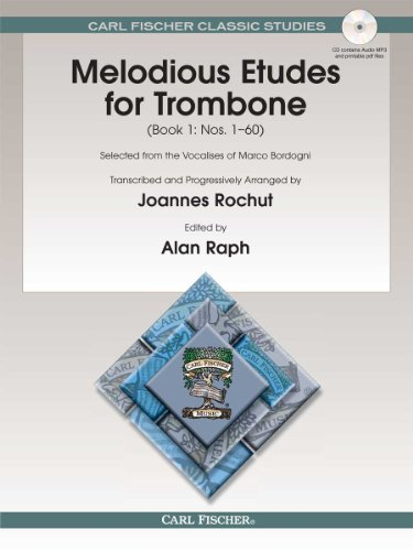 Melodious Etudes for Trombone: Book 1 : Nos. 1-60  2011 edition cover