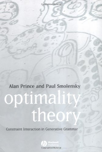 Optimality Theory Constraint Interaction in Generative Grammar  2004 9781405119337 Front Cover