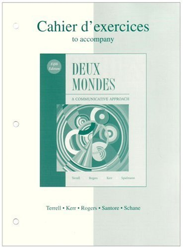 Accompany Deux Mondes A Communicative Approach 5th 2005 9780072959338 Front Cover