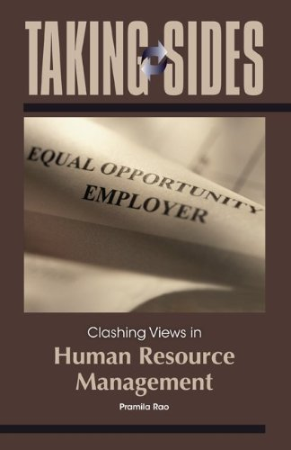 Taking Sides: Clashing Views in Human Resource Management   2011 edition cover