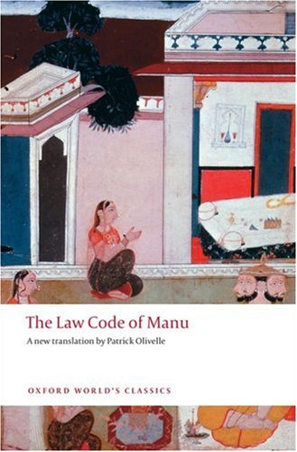 Law Code of Manu   2008 edition cover