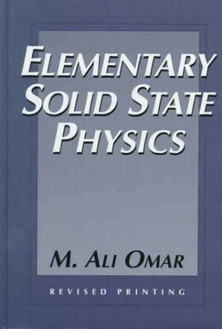 Elementary Solid State Physics Principles and Applications  1975 edition cover