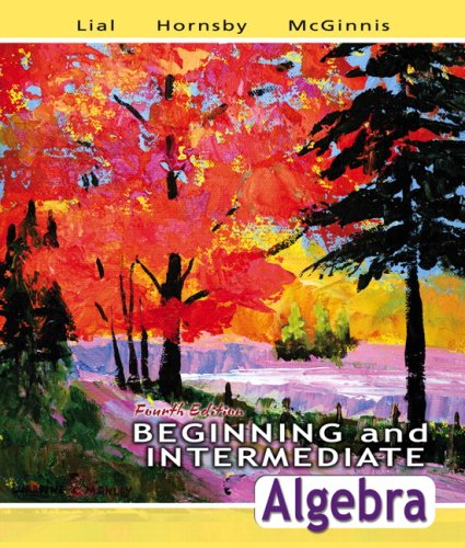Beginning and Intermediate Algebra  4th 2008 edition cover