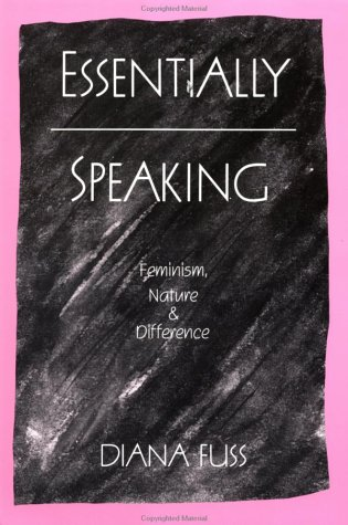Essentially Speaking Feminism, Nature and Difference  1990 edition cover