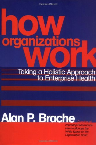 How Organizations Work Taking a Holistic Approach to Enterprise Health  2002 edition cover
