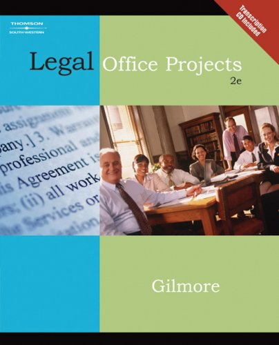Legal Office Projects  2nd 2007 (Revised) 9780538729338 Front Cover