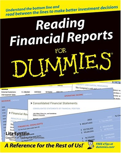 Reading Financial Reports for Dummies   2004 9780764577338 Front Cover