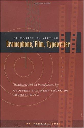 Gramophone, Film, Typewriter   1999 edition cover