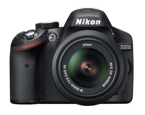 Nikon D3200 24.2 MP CMOS Digital SLR with 18-55mm f/3.5-5.6 AF-S DX VR NIKKOR Zoom Lens (Black) product image
