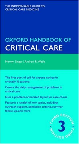Oxford Handbook of Critical Care  3rd 2009 9780199235339 Front Cover
