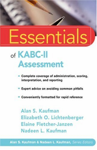Essentials of KABC-II Assessment   2005 edition cover