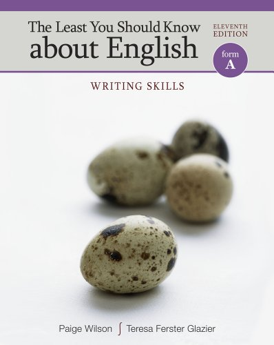 Least You Should Know about English Writing Skills, Form A 11th 2012 edition cover