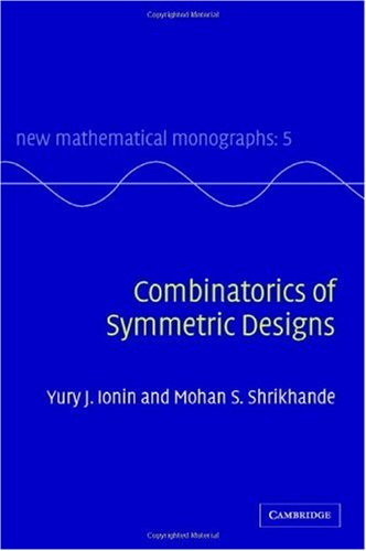 Combinatorics of Symmetric Designs   2006 9780521818339 Front Cover