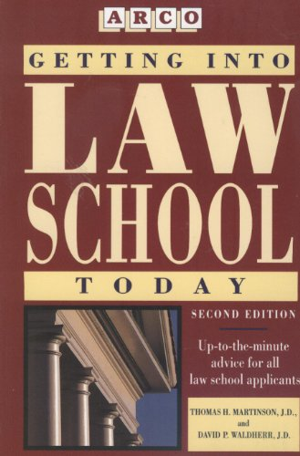 Getting into Law School Today 2nd 1994 9780671890339 Front Cover