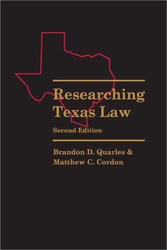 RESEARCHING TEXAS LAW N/A edition cover