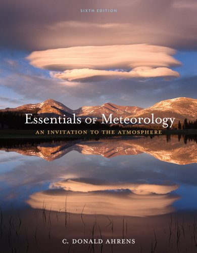 Essentials of Meteorology An Invitation to the Atmosphere 6th 2012 edition cover