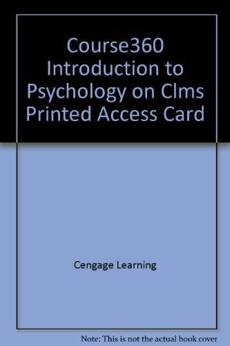 Course360 Introduction to Psychology on CLMS Printed Access Card  2nd 2012 9781111944339 Front Cover