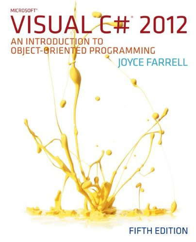 Microsoft Visual C# 2012: An Introduction to Object-oriented Programming 5th 2013 edition cover