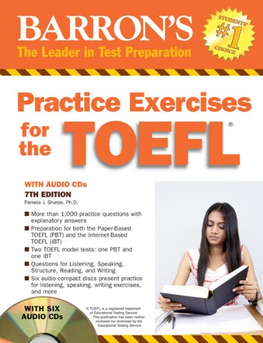 Practice Exercises for the TOEFL with Audio CDs  7th 2011 (Revised) edition cover