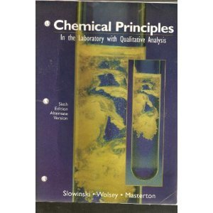 Chemical Principles in the Laboratory with Qualitative Analysis  6th 1997 (Lab Manual) 9780030192340 Front Cover