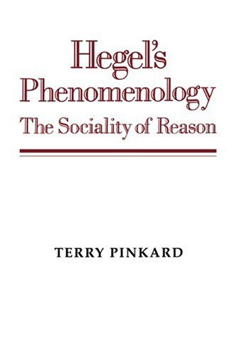 Hegel's Phenomenology The Sociality of Reason  1996 edition cover