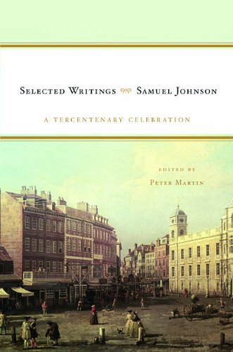 Samuel Johnson Selected Writings  2009 9780674060340 Front Cover