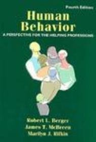 Human Behavior A Perspective for the Helping Professions 4th 1996 (Revised) edition cover