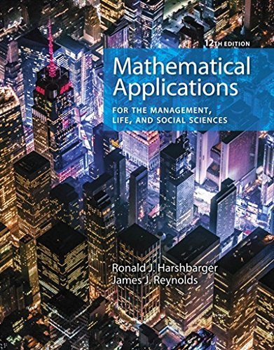 Mathematical Applications for the Management, Life, and Social Sciences:   2018 9781337625340 Front Cover
