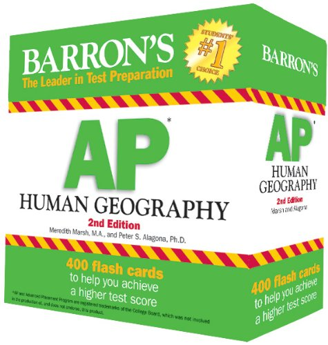 Barron's AP Human Geography Flash Cards, 2nd Edition  2nd 2013 (Revised) edition cover