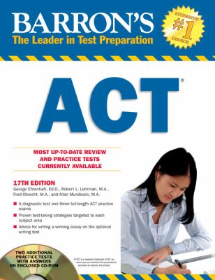 Barron's ACT with CD-ROM, 17th Edition  17th 2012 (Revised) edition cover