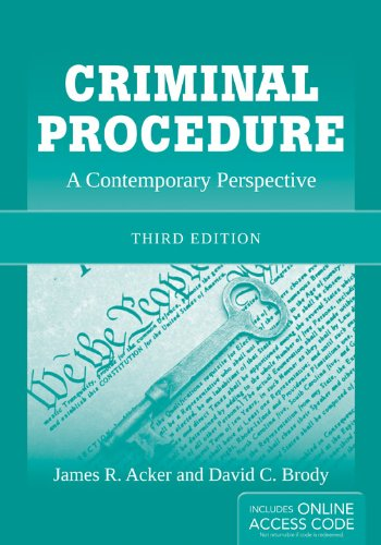 Criminal Procedure A Contemporary Perspective 3rd 2013 edition cover